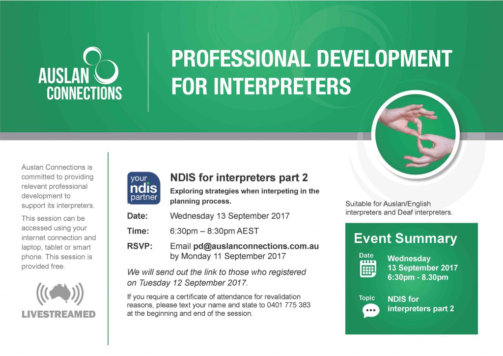 NDIS for Interpreters Part 2 Artwork